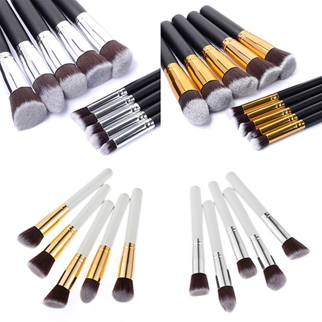 10Pcs Makeup Cosmetic Tool Eyeshadow Powder Cheek Brush Set