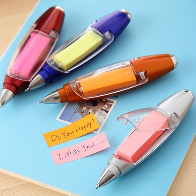 Multifunctional Stationery Ballpoint Lanyard Notes LED Light Pen Supplies