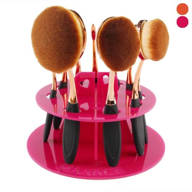 10-Hole Makeup Brush Holder