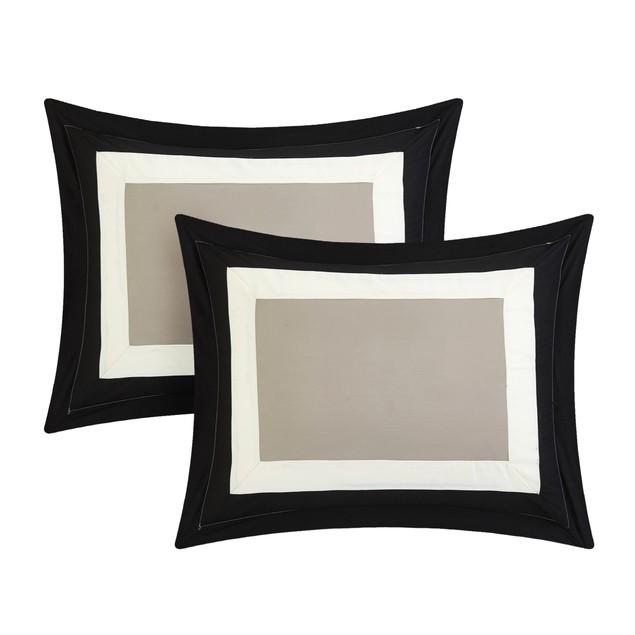Chic Home 10 Piece Jeicel Reversible Geometric Pattern Print Comforter Set