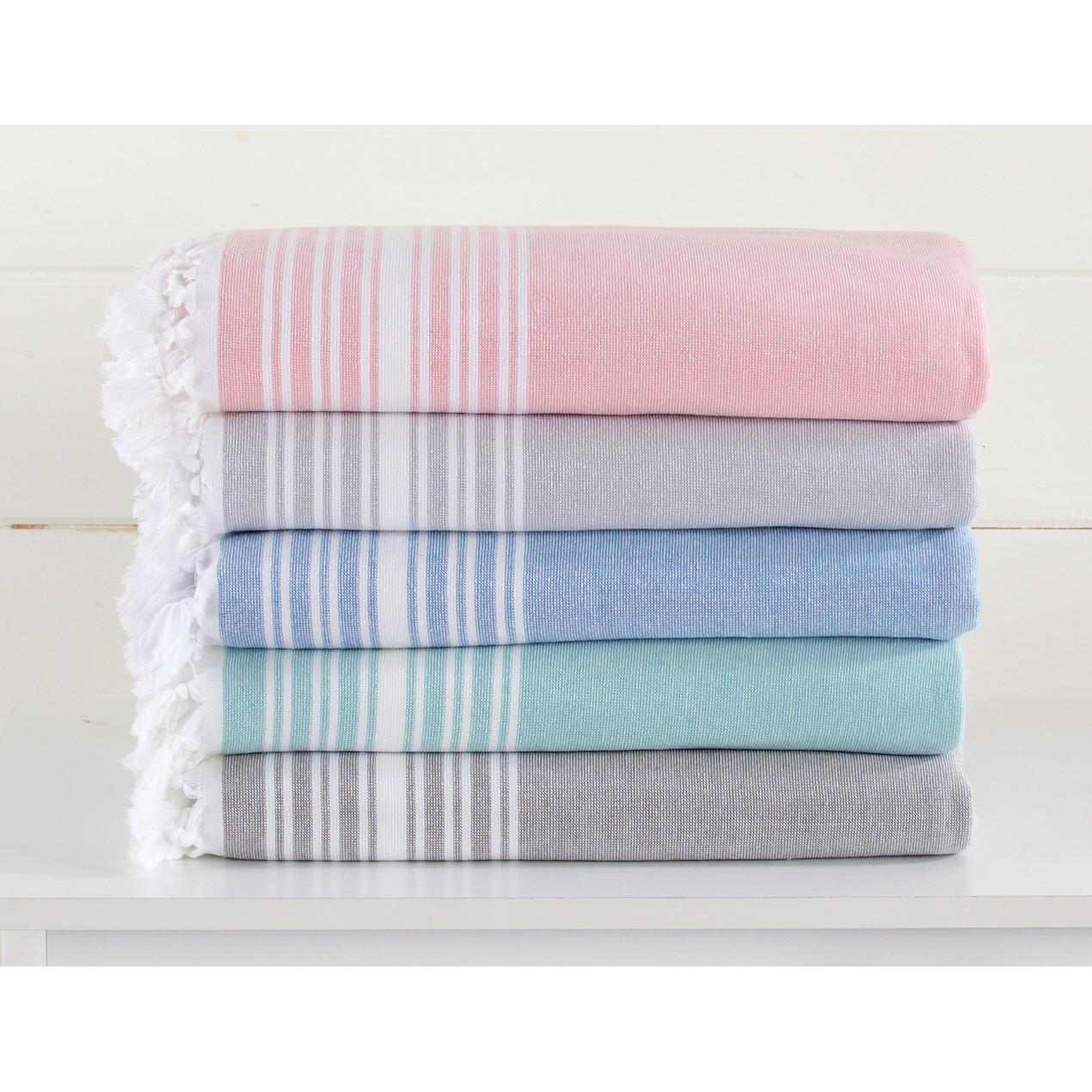 Blossom Linens 100% Cotton Beach Towel and Oversize Bath Towel - Tanga