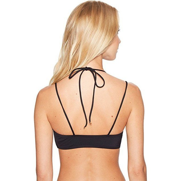MICHAEL Michael Kors Women's Solids Halter Double Strap Bikini Top Sz:
