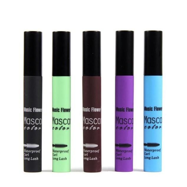 Colorful Makeup Eyelash Long Curling Mascara Eye Lashes Extension
