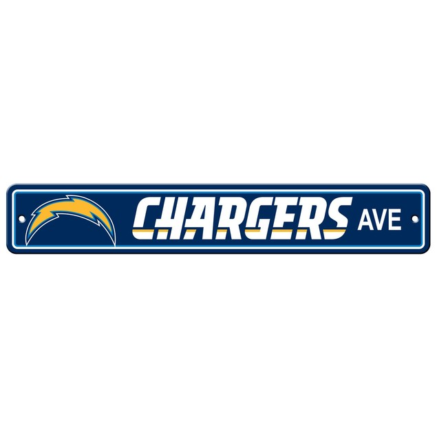 "Los Angeles Chargers Ave Street Sign 4""x24"""