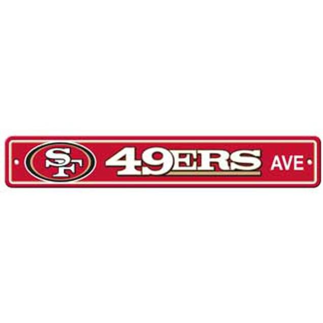 "San Francisco 49ers Ave Street Sign 4""x24"" NFL Football Team Logo Man Cave"