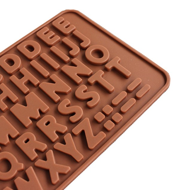 Letter Pattern Silicone Chocolate Cake Cookie Mold