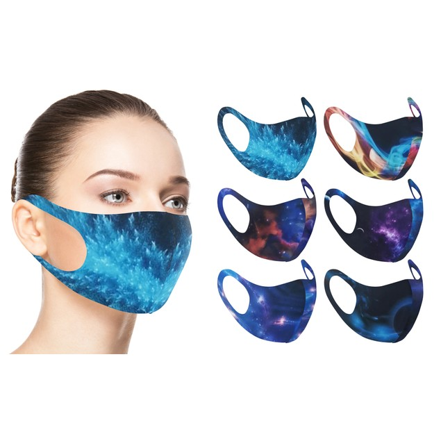 6-Pack Cosmic and Galaxy Design Reusable Face Mask