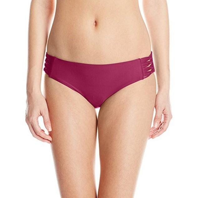 Body Glove Women's Smoothies Ruby Bikini Bottom, Black Plum, SZ SMALL