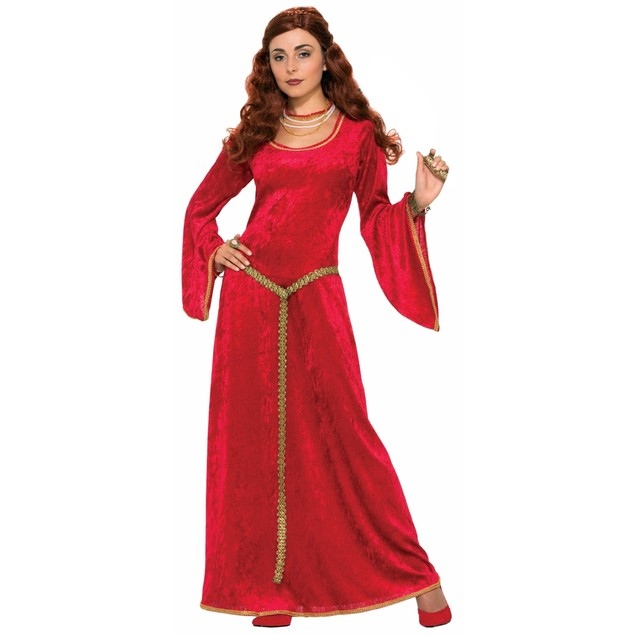 Red Buttercup Or Melisandre Peasant Dress Costume