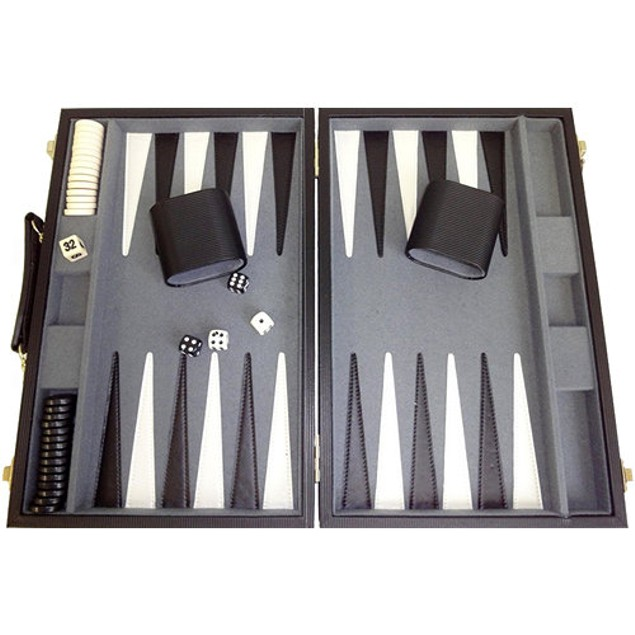 Backgammon Deluxe Attache Set Board Game, More Pop Culture by Go! Games
