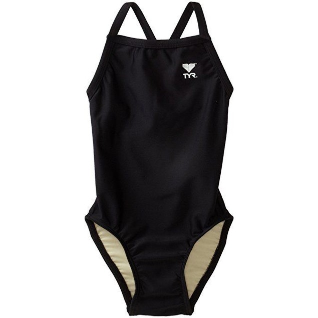 TYR Sport Girls' Solid Diamondback Swim Suit Sz  26