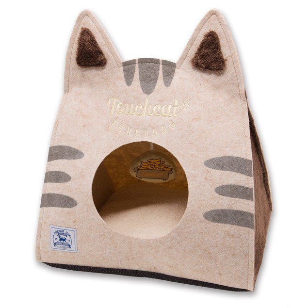 Touchcat 'Kitty Ears' Travel Collapsible Folding Cat Pet Bed House With Toy