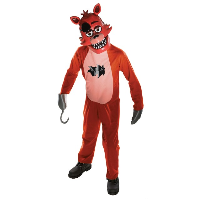 Foxy Tween Costume Five Nights At Freddy's Jumpsuit Mitts and Mask Fazbear