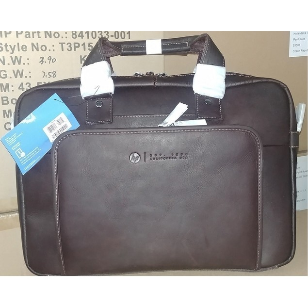"HP Elite Top Load Colombian Leather Case for 14"" Laptop Computers"