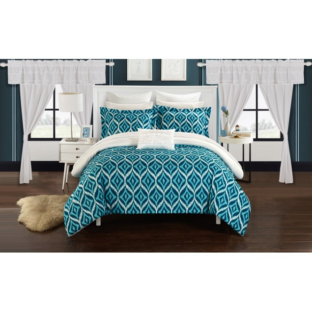 Chic Home 20 Pc. Clara Bedroom in a Bag REVERSIBLE