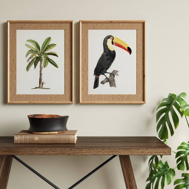 Threshold Tropical Palm And Toucan Art Prints
