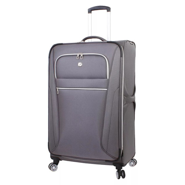 """SWISSGEAR Checklite 29"""" Luggage with Two Front Panel Pockets, Charcoal"""