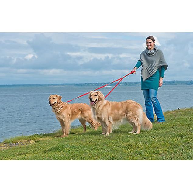 FurHaven Two Tails Walking Double Dog Pet Leash