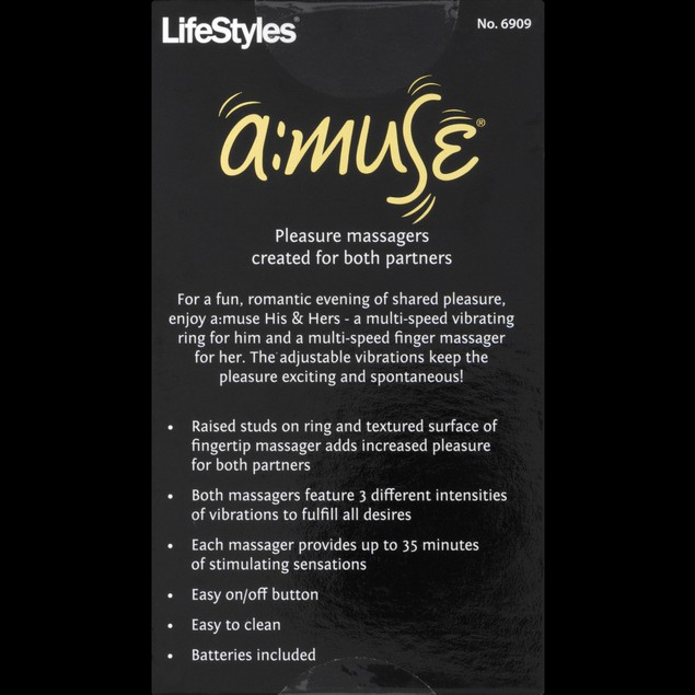 LifeStyles A:Muse His & Hers Vibrating Ring Pleasure Massagers w/ Multi