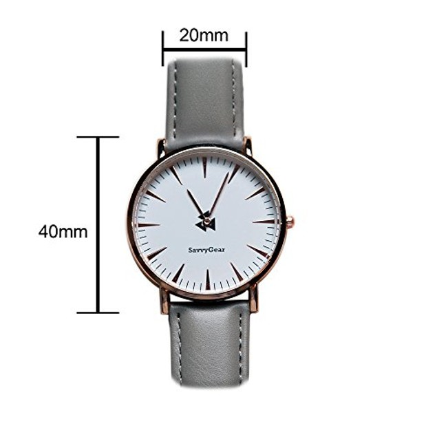 SavvyGear Analog Quartz Wrist Watch