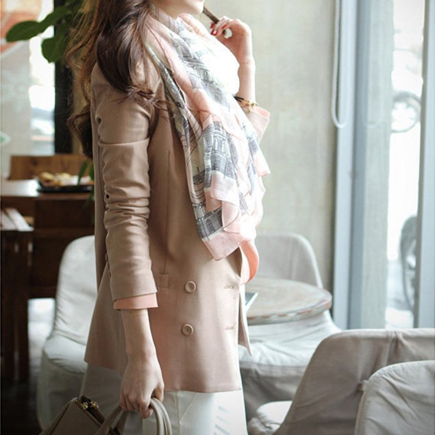 Women's Casual Voile Sheer Soft Long Scarf