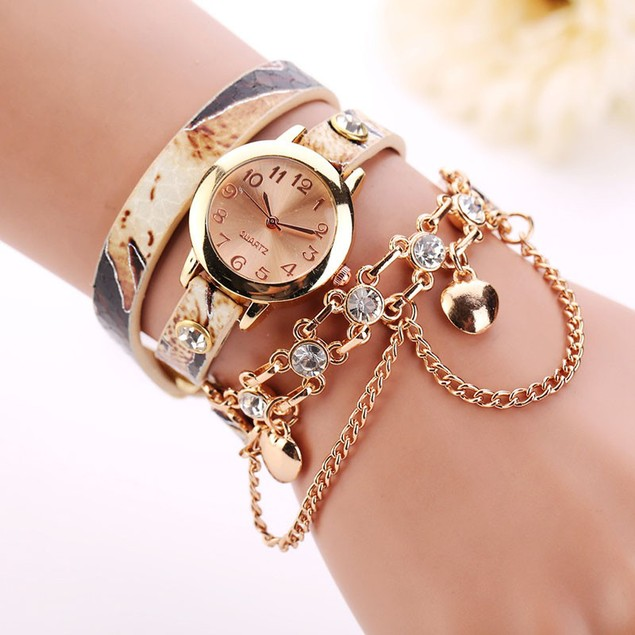 Women's Layered Bracelet Watch