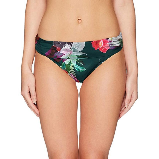 La Blanca Women's Shirred Band Hipster Bikini Swimsuit Bottom SZ: 6