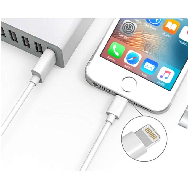USB A To Lightning Cable Charge & Sync Cable MFi Certified 9.8 Feet