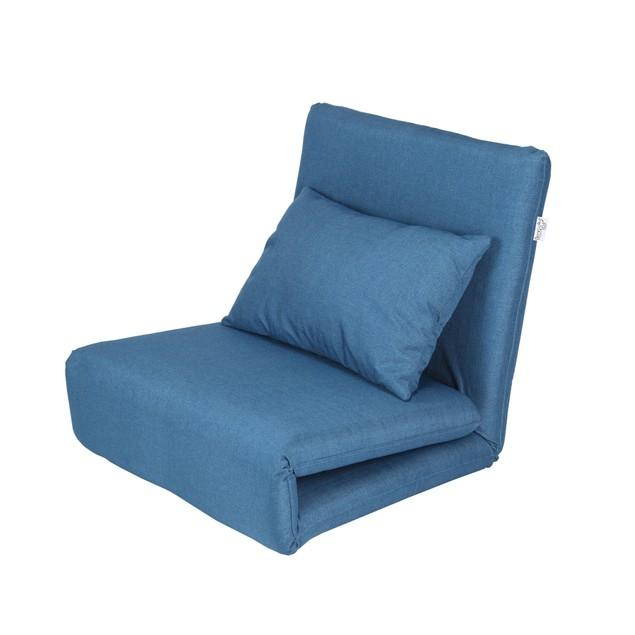 Loungie Relaxie Linen Flipchair - 5-Position Adjustable Back   Lounger