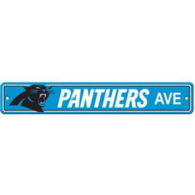 """Carolina Panthers Ave Street Sign 4""""x24"""""""