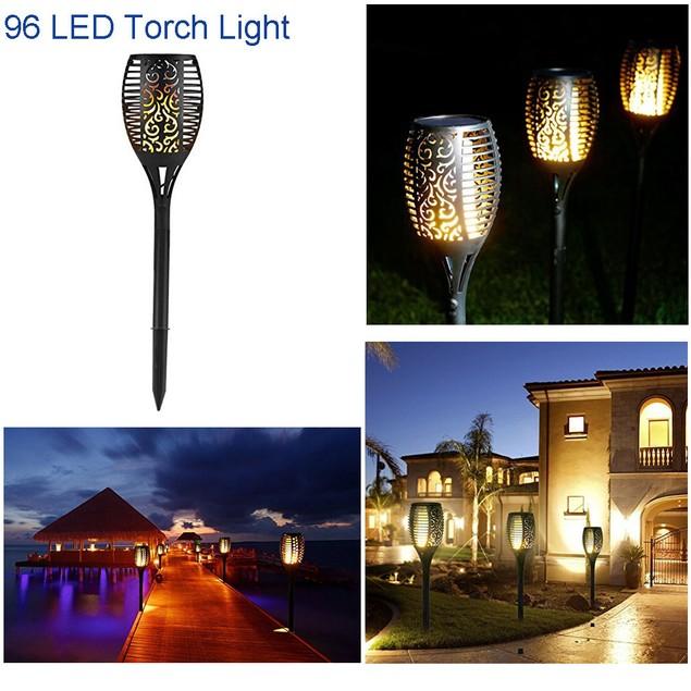LED Solar Path Torch Light
