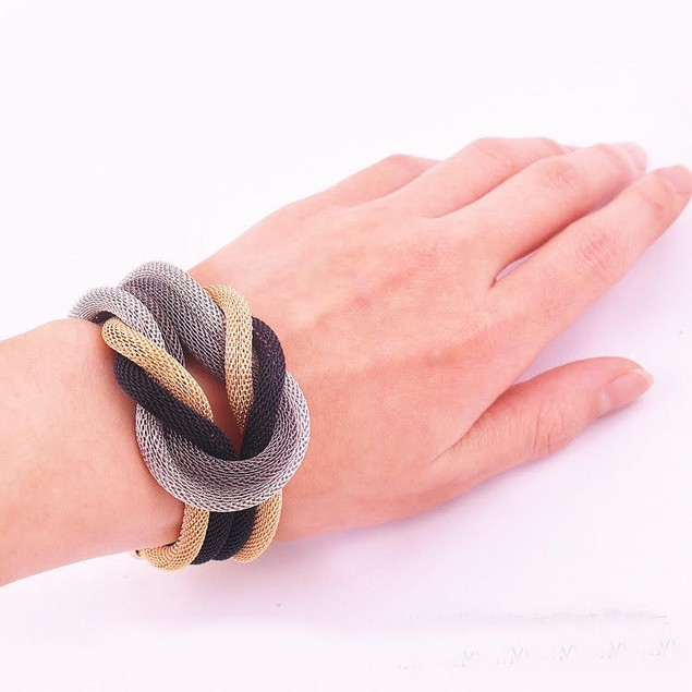 Chain Wrap Knotted Bracelet