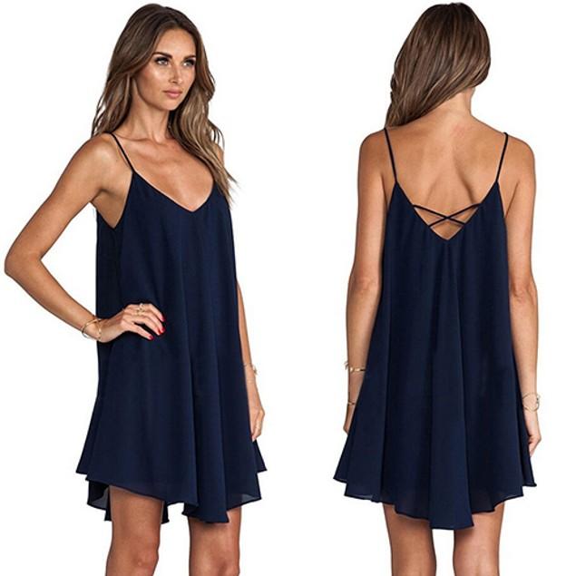 Women's Summer Sexy Sleeveless Party Dress