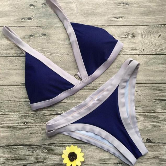 Bikinis Women Swimsuit Push Up Swimwear Stitching Brazilian Bikini Set