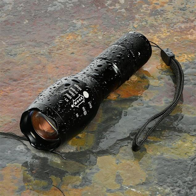 X800 T6 LED Flashlight Torch shadowhawk Lamp Nylon Pouch battery
