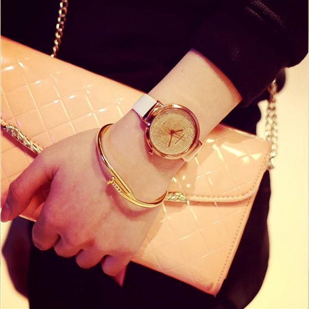 Sands Starry Simple Temperament Belt Table Diamond Quartz Watch
