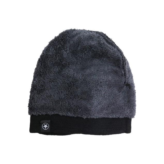 Thermal Fleece Dark Lined Warm Winter Hat Beanie With Fur Inside