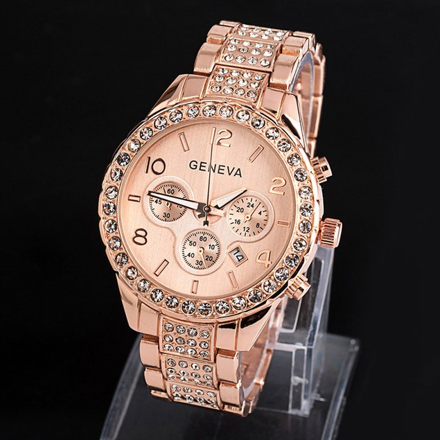 Women's Luxury Fashion Watch with Crystals