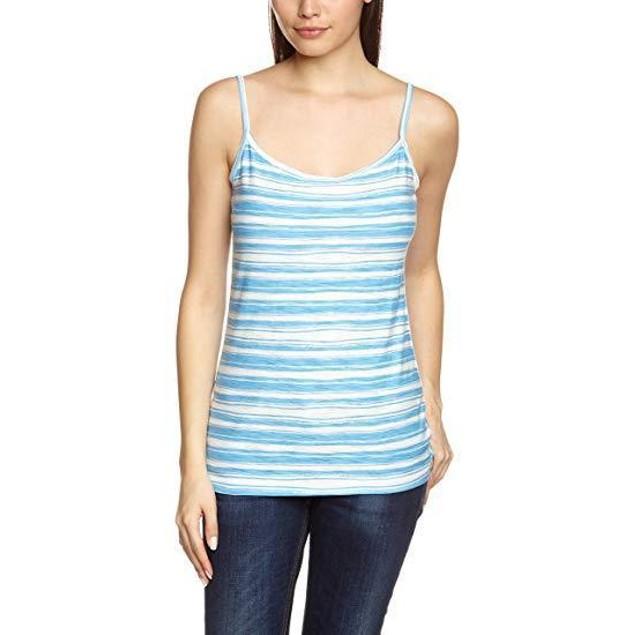 Patagonia Women's Necessity Cami Overseas Stripe/Skipper Blue Small