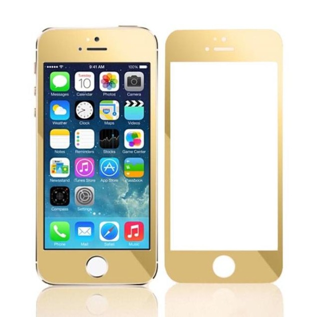 Plating Tempered Glass Screen Protector Film for iPhone SE 5 5S 5C