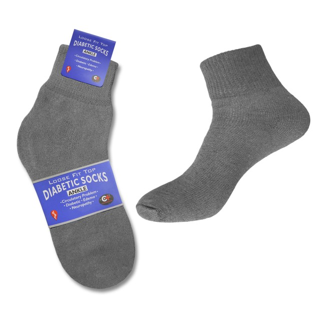 6-Pairs Diabetic Crew Circulatory Cotton Socks for Women