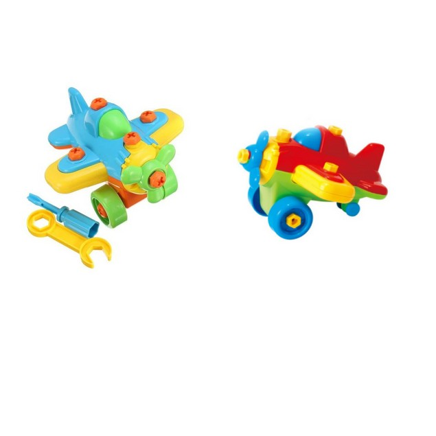 Educational Take Apart Toy Race Plane (2-piece set)