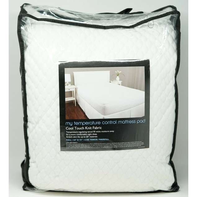 Bloomindale's My Temperature Control Fiber Fill Mattress Pad, Full Size,