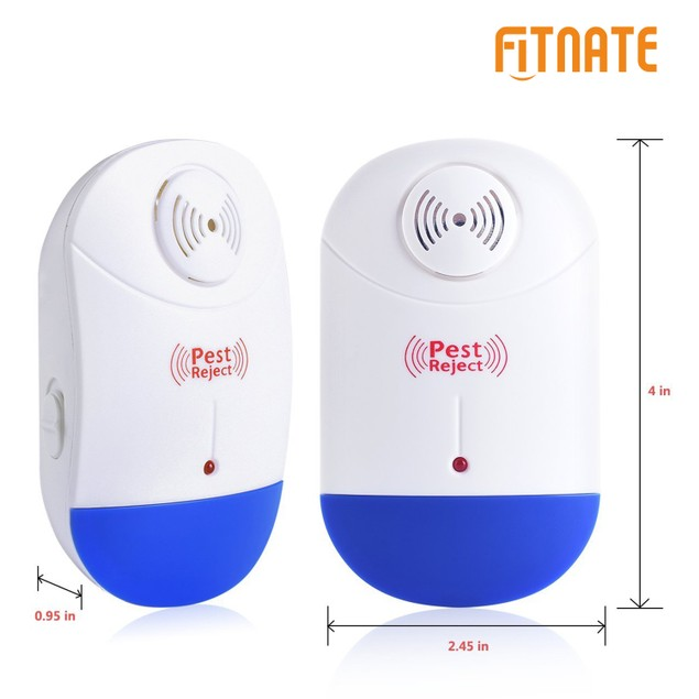 Fitnate Ultrasonic Pest Repeller,Night Light Repellant for Insects&Rodents