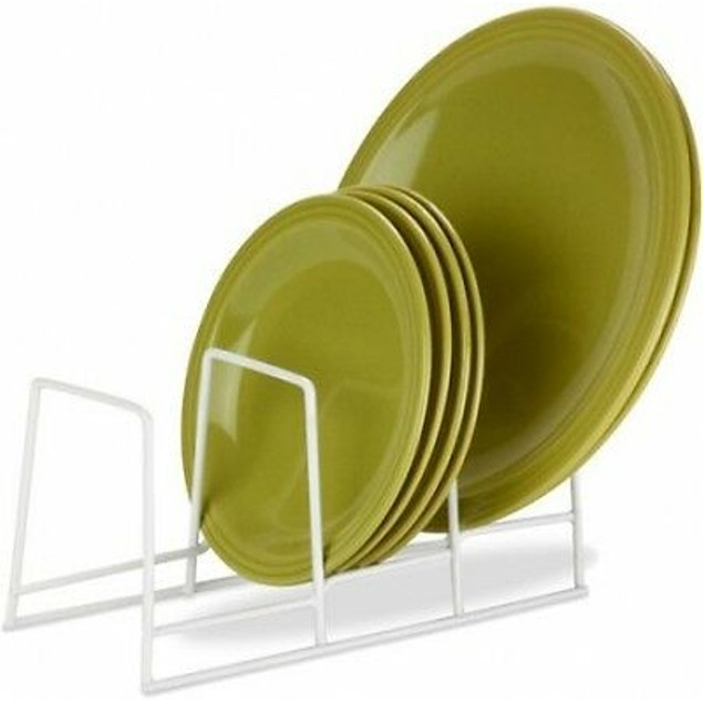 Coated Steel Wire Kitchen Countertop Or Cabinet Plate Drying Rack