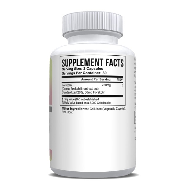Pure Forskolin Extract 20% Dr Recommended Weight Loss 8 oz - 3 Month Supply