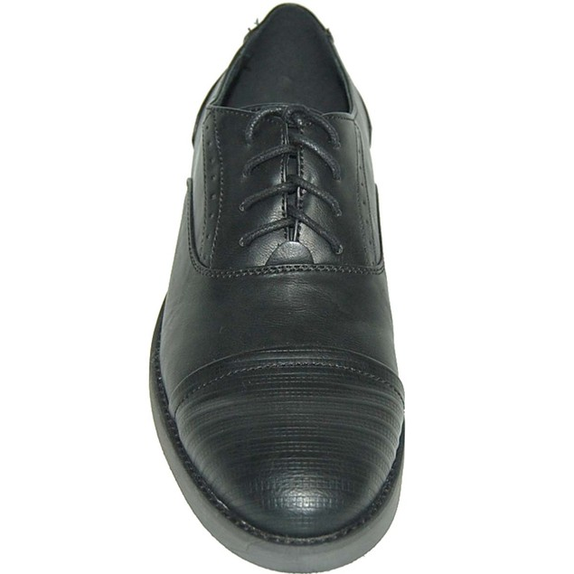 Krazy Shoes 2 Pairs 1 Price Black  Leather Lined Cap Toe Shoe