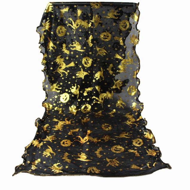 Women Pumpkin Print Scarf Long Soft Wrap Shawl Stole Pashmina Scarves