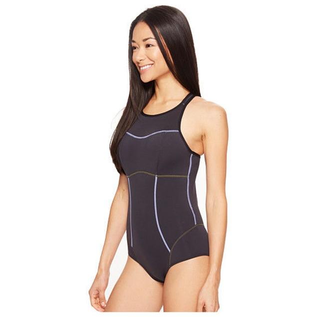 NEW Women's Prana Eleana Black One-Piece Swimsuit SIZE SMALL