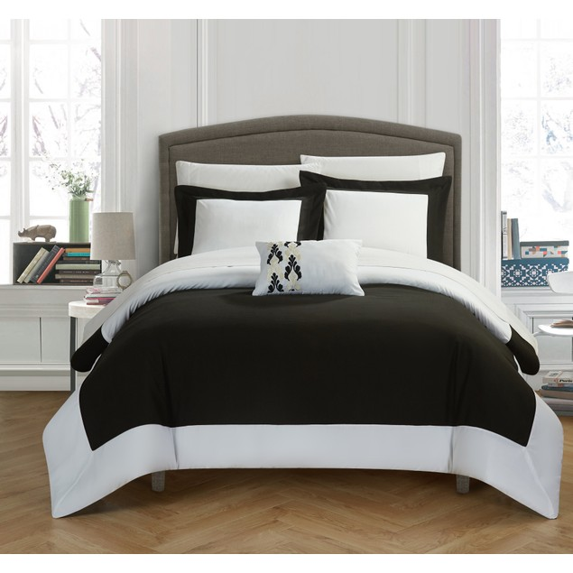 Chic Home Salem Modern Two Tone Reversible Duvet Cover Set
